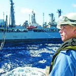 Somewhere off Somalia's coast, Regina gets topped up