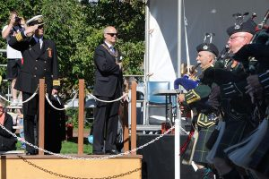 Capt (N) Luc Cassivi, Base Commander CFB Esquimalt is the Reviewing Officer for the 19 May 2014 Victoria Day Parade.